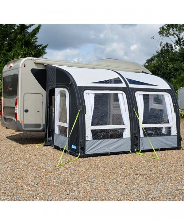 Kampa MotorRally AirPro 330 XL 2017 Used Twice Selling As Motorhome Sold Inflatable Awning Includes All Accessories Incl Carpet Pump Tie Down Kit